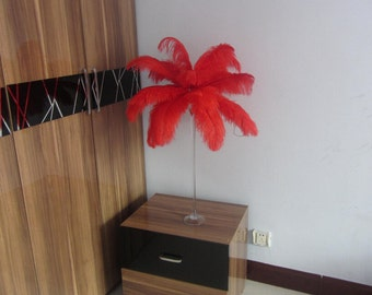 100pcs Red Ostrich Feather Plume for Wedding centerpieces,