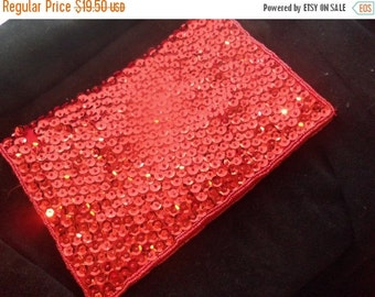 Now On Sale Vintage Red Sequins Walborg Collectible Clutch Purse 1950's 60's Mad Men Mod Hollywood Glam Accessories
