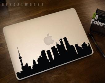 Shanghai Skyline Macbook Decal 1 | Macbook Sticker | Laptop Decal | Laptop Sticker | Car Sticker