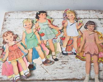 Vintage Paper Doll Lot No. 1 Paper Paper Ephemera