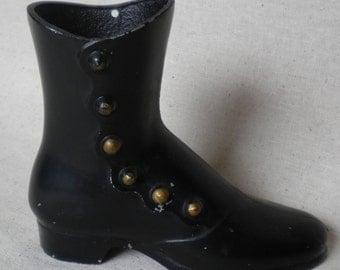 vintage aluminum ladies boot victorian ladies boot vase figurine decoration