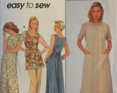 Simplicity 0691, Size Large, X Large, Misses' Wrap Around Apron, Dress or Tunic Pattern, UNCUT, Easy To Sew, 1998, Sleeveless, Casual