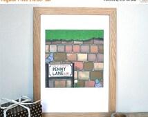 Summer Sale - Liverpool Print - Penny Lane print - Liverpool art - The Beatles art - Penny Lane Print