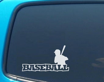 Baseball Vinyl Decal - Many color choices - Great for Car Windows