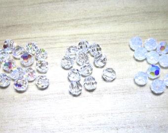 SALE Swarovski Crystal round beads 6mm clear - 12 beads