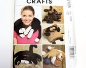 McCalls 5128 Plush Pets and Pillows Pattern, Cat Neck Pillow, Dog and Cat Stuffed Animals, Uncut Craft Pattern itsyourcountry