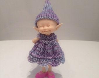 Realpuki Glitter Lilac Dress and Matching Hat
