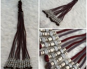 Meat Grinder Flogger in Dark Red, & Gunmetal Gray
