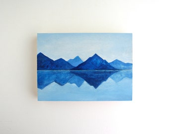 Mountain Lake Painting - 5 x 7