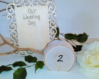 12 Birch table numbers - Wedding decor - Wedding centerpiece - event decor - Wood table numbers - Table decor