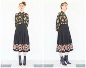 80s Oscar de la Renta Baroque Floral Skirt Blouse Set