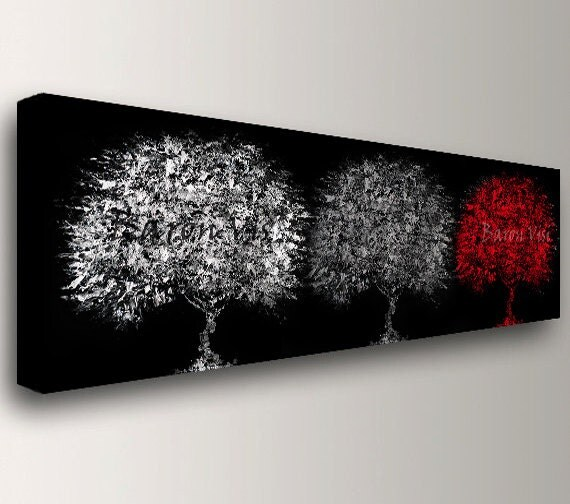 Red black abstract painting acrylic 72 impasto large for Black white canvas paintings