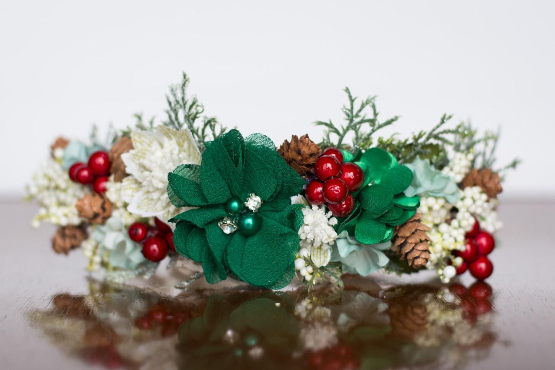 Flower Crown Christmas Halo Wedding Newborn Photo Prop