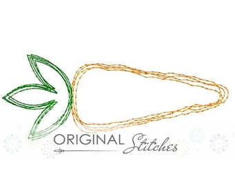 Quick Stitch Carrot Machine Embroidery Digital Design File 4x4 5x7 6x10