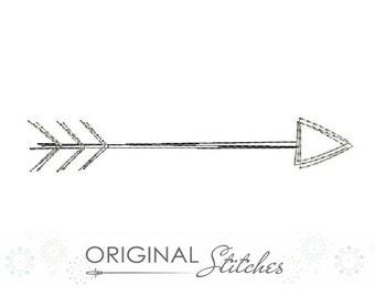Quick Stitch Arrow Machine Embroidery Digital Design File  4x4 5x7 6x10 7x11