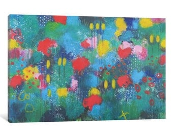 iCanvas Hide and Seek Gallery Wrapped Canvas Art Print by Anna Schueler