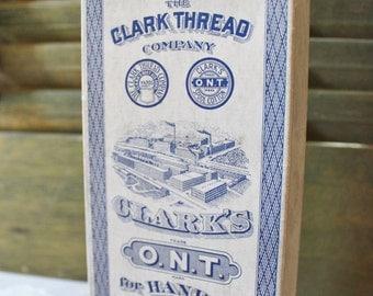 Vintage Clark Thread Box - Old Advertising