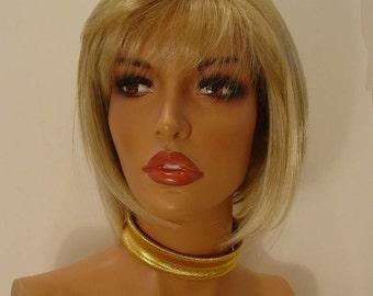 1970s Rare Design Flex Cuff Choker and Bracelet