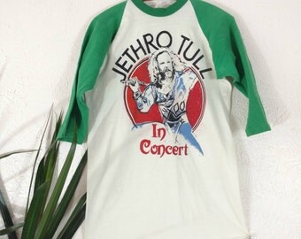 RARE Vintage 1970s Jethro Tull Concert Tour Band T Shirt Men's Small Medium Large