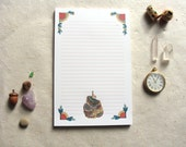 "Notepad // Quilted Forest: Rabbit // 5.5""x8.5"" // 30 sheets"