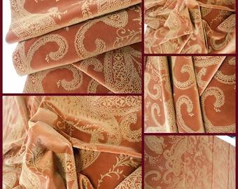 Kravet Collections Italian -Upholstery Fabric- Impress-Sienna- pc51inchx33inchL- Paysley-Luxury Fabric - Velvet