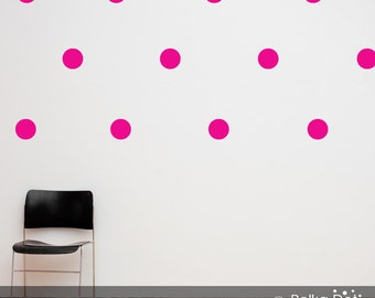 Peel and Stick Pink Polka Dot Wall Decals | Long Life | Apartment Safe