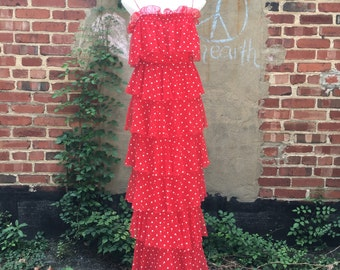 Shake Down Red Polka Dot Dress sz S/M