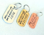 Small dog ID tag / Cat ID tag / Custom Name, Address, Phone Number / Aluminum, Copper or Brass / Pet ID tag / Personalized