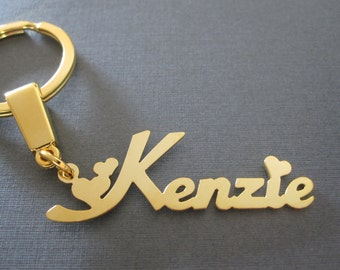 Personalized Gold Name Keychain