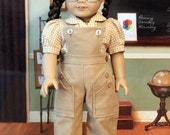 Corduroy Bibbed Play Suit, Blouse and Beret for 18 Inch Dolls