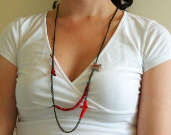 Handmade romantic chic necklace