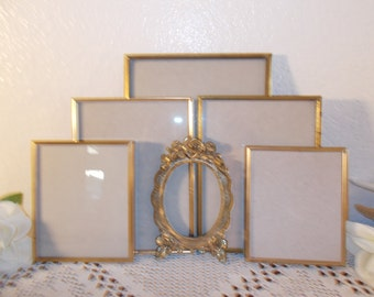 Vintage Gold Metal Frame Set Instant Collection French Country Farmhouse Mid Century Hollywood Regency Home Decor Wedding Decoration Gift