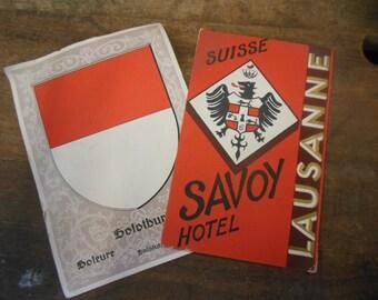 1940 Vintage Hotel Suisse Savoy Hotel Brochure Photogaphs