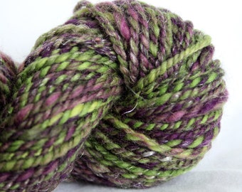 NEW PRICE Handspun Yarn Worsted Weight - Dark Magic