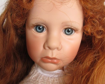Vintage Artist Julie Good Kruger Day Dreams Redhaired Doll All Vinyl w Lamb 1990 Limited to 1000