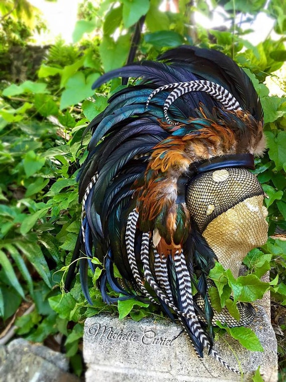 Haku - Customizable Feather Mohawk / Headdress