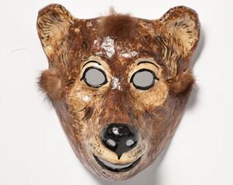 masquerade bear paper mask