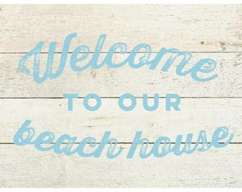 Beachy Whitewash Welcome Rug Flooring Background or Floor Drop Photo Prop