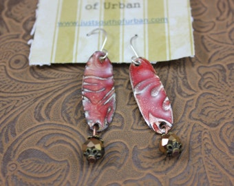 Copper Enameled Earrings