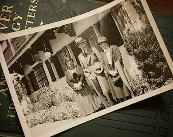 Three's Company~ Two antique photographs