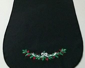 """Vintage Black Christmas Table Runner w/ Ivy & Berries 69"""" x 14"""""""