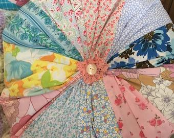 Vintage  cotton fabric pin wheel design patchwork cushion,pillow,home decor, cushion,patchwork