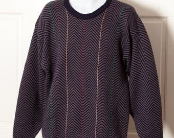 80s 90s Vintage Big Comfy Men's Sweater - ARROW SPORT - XLT