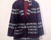 Vintage 80's Navajo Inspired Blazer / Blanket Marnie West Blazer M