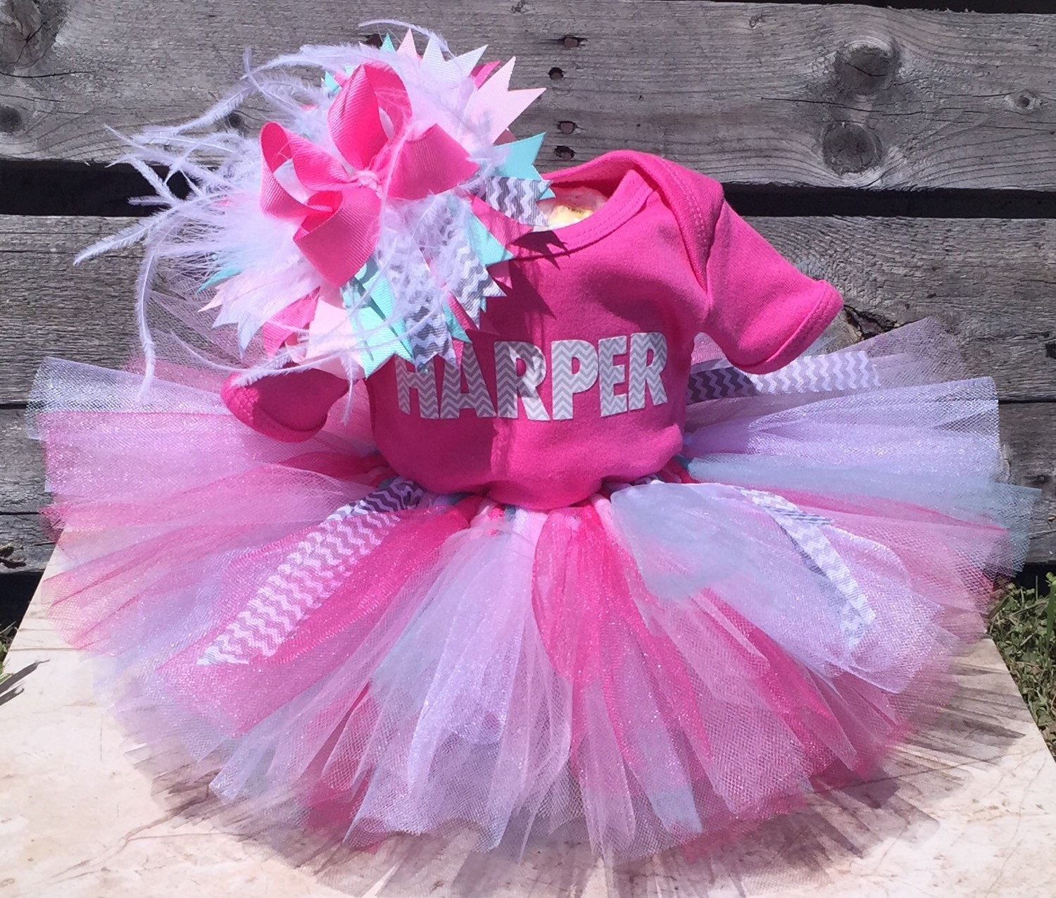 Tutu Diaper Cake Girl Baby Shower Gift