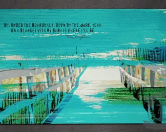 Placemat - Under the Boardwalk | The Drifter's Beach House Shore Decor | Anti Skid/Non Slip Fabric Top Rubber Backed Awesomeness