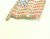 Antique, Vintage American Flag Brooch, Flag Pin, U.S. Flag Antique Brooch