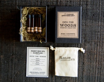 Into The Woods Perfume Collection Set - The Parlor Apothecary - 1 ml each