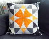 Quilted patchwork pillow - Winding Ways