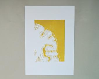 NEW Brain Art Print. Cross Section of Brain. Neuroscientist Office Art. Psychology Tutor Gift. Neuroscience Student Art.
